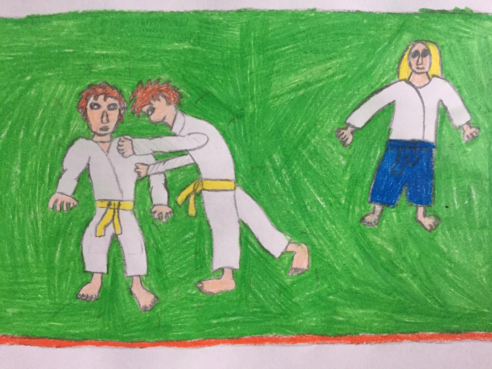 l'aikido une pratique harmonieuse avec mon frère Lucas sous l'oeil avisé de Dany
